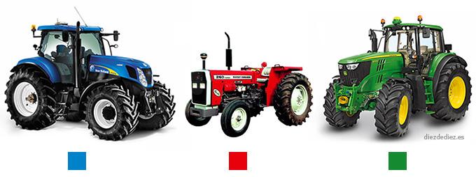 marcas de tractores y sus colores