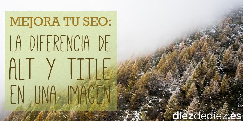 paisaje de alta montaña como metafora del alt y title para seo